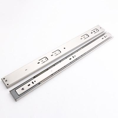 不锈钢液压缓冲滑轨 家具抽屉橱柜固装滑轨 导轨五金配件厂家直销