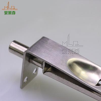 6寸不锈钢门防盗门木门插销锁 上下安装大门锁天地锁门用五金配件
