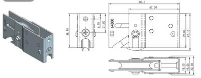 铝合金推拉门窗 家居五金 厂家直销 滑轮HL-A15