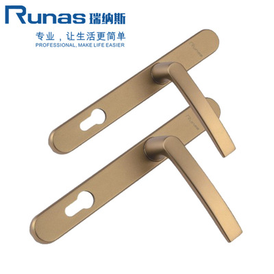 厂家直销铝合金双面执手 多点平开门把手 对穿执手 欧式把手批发