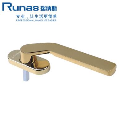氧化金色银色断桥金推拉门执手塑钢门窗方轴把手