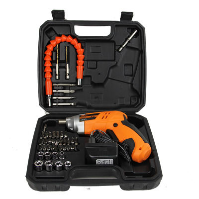 4.8V电动螺丝刀 多功能充电式手电钻 电动螺丝批套装 带软管