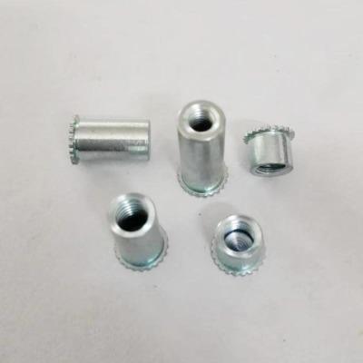 现货供应机箱压铆螺柱M3六角盲孔压不锈钢压铆螺母柱 压铆螺母柱