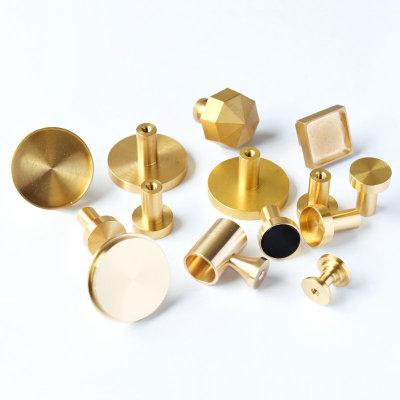 黄铜柜门拉手加工 铜五金件打磨抛光加工 家具配件小拉手来图定制