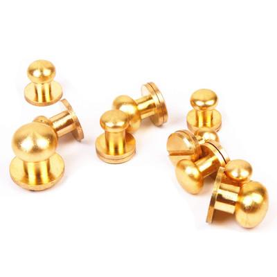 纯铜和尚头奶嘴钉箱包皮具纯铜五金配件多种规格纯黄铜材质