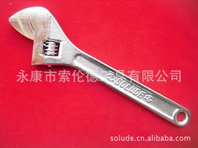 厂价供应镀铬活动扳手 活络扳手 6-24寸活扳手 活动开口扳手