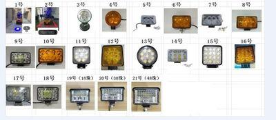 各种工程LED大大灯灯,叉车灯