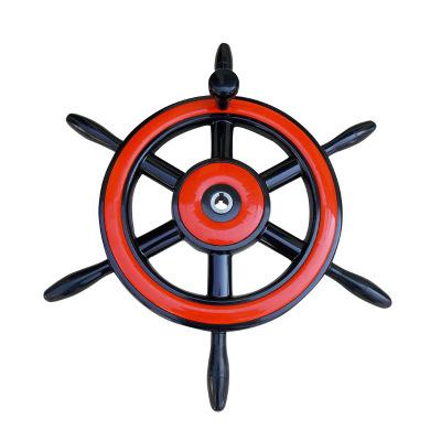塑钢舵轮实木舵轮 船用五金配件 地中海仿古木舵手船舵轮