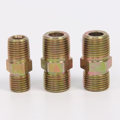 批发液压铁接头 油管过镀对丝接头 镀彩卡套扩口接头 D型A型直接