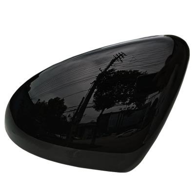 适用于大众高尔夫7高7gti高7R GTD凌度倒车镜壳烤漆黑色亮黑色