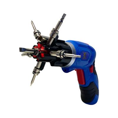 4V锂电钻充电式电动螺丝批电起子电动螺丝刀组套折叠电动螺丝刀