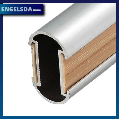 铝型材厂家铝合金衣通管挂衣杆衣柜衣通管五金家具配件