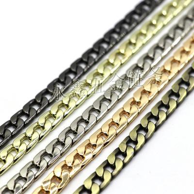 现货成品链高档韩国7mm扁链包包链条优德88娱乐官网金属包链包带金属包带子