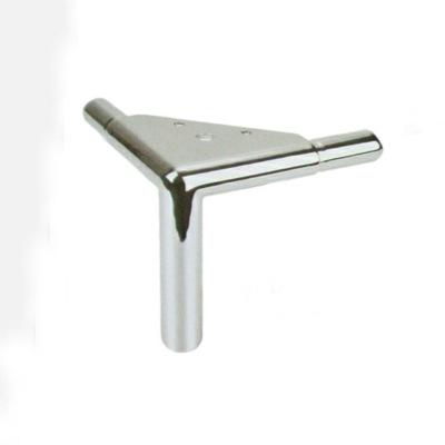 厂家直销金属桌腿铝合金压铸电镀五金沙发脚家具五金柜脚铝三叉脚