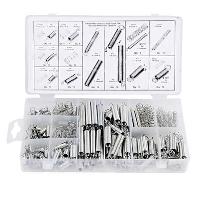 200PCS弹簧 拉簧 压簧 套装 200根透明pp塑料盒装20种规格一盒
