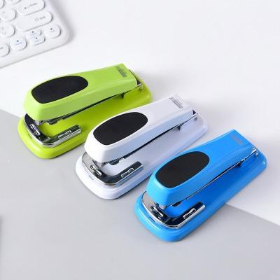 金属制订书机创意 订书器省力订书机360度旋转订书机12号批发LOGO