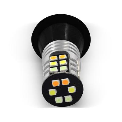 汽车led三色一体转向灯带日行灯3030 30SMD高亮解码行车灯1156T20