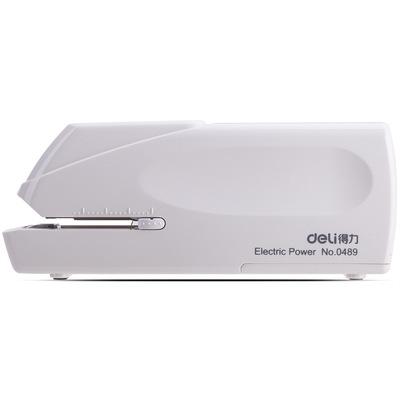 得力办公文具0489电动订书机12号通用自动装订订书机可装订20张