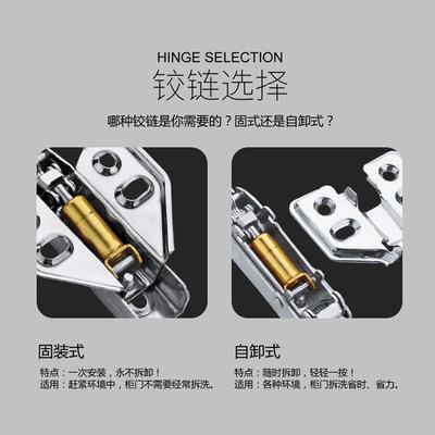 801固定 盖18板橱柜厂衣柜厂专用好调节顺畅不锈钢液压阻尼铰链
