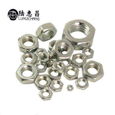 厂家供应304不锈钢螺母螺帽M10-M18 六角螺母 厂家批发