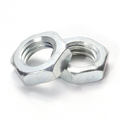 镀锌8级薄螺母高强度镀锌外六角螺母GB6172焊接螺丝螺帽配件