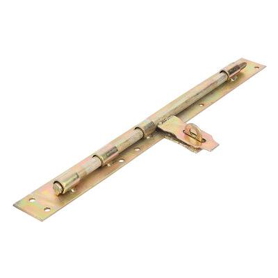 自产自销门板栓带锁扣铁门栓地插F型防盗木门门板栓规格齐全门栓