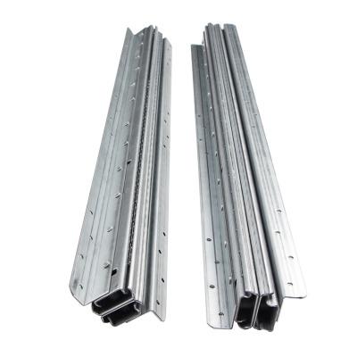 楼梯底柜滑轨 三节静音冷轧钢加厚推拉楼梯柜轨道 重型楼梯柜导轨