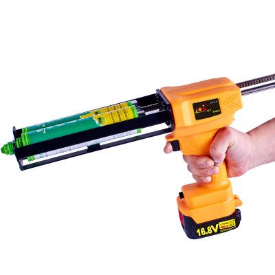 16.8v电动美缝2:1打胶枪美缝剂胶抢双管打胶机家用自动美缝枪