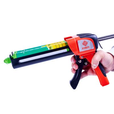 2020新款双管手动美缝胶枪省力玻璃胶枪金属架液压美缝枪厂家直销