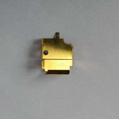 加工定制五金屏蔽罩冲压件方形多台阶洋白铜圆形屏蔽罩