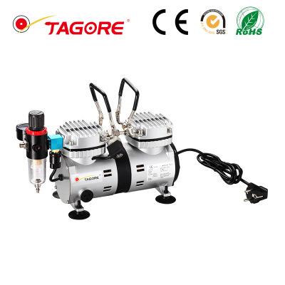 厂家直销 泵 活塞式无油静音空气压缩机双缸便携式医用气泵充气