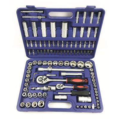 108pc棘轮扳手套装 汽修汽保家用五金工具厂家直销 108件套筒组套