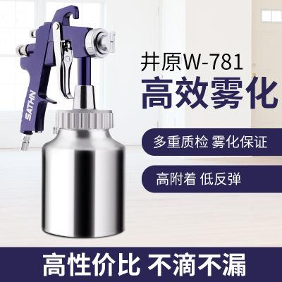 日本井原W-871多彩水包水真石漆仿石漆胶水高粘度乳胶漆喷漆枪