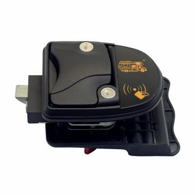 汽车轮船黑色铝合金房车锁电子锁智能遥控密码磁卡还有配锁匙