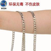 电镀扁包链金属包包链条斜挎包肩带链子箱包铁链铝链条定制包链条