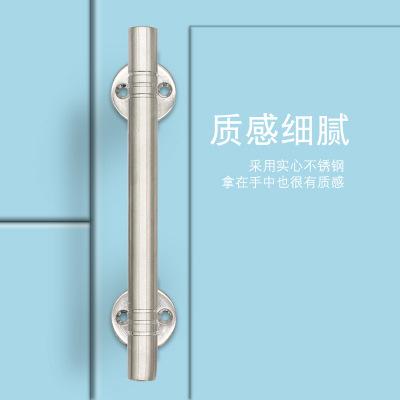 迪尼特不锈钢实心拉手拉丝实心双弯把手大门房门拉手木门铁门把手