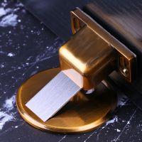 地吸免打孔 防撞隐形门挡锌合金强磁实木门加厚地板吸 黑色门吸