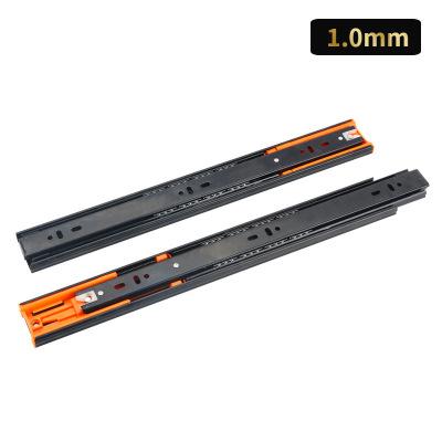 厂家直销 不锈钢缓冲阻尼三节滑轨 橱柜抽屉加厚静音导轨轨道批发