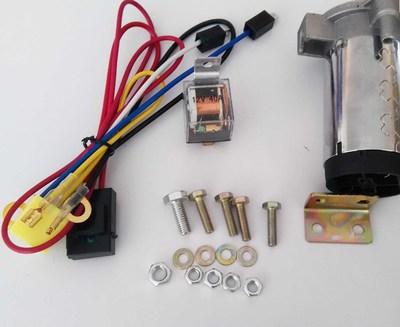 厂家直销两管金属汽车气喇叭摩托车超响汽笛12v改装通用
