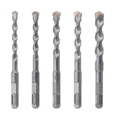 方柄四坑电锤钻头非标钨钢合金工程混凝土圆柄两坑两槽冲击钻打孔