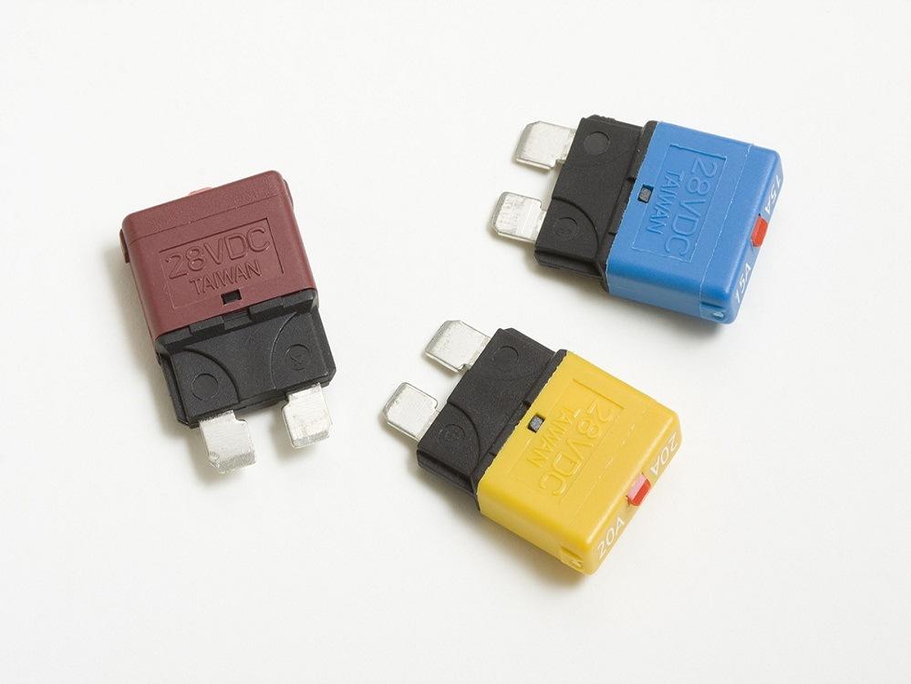 iATY汽车插片式保护器保险片保险丝插片过流保护器手动复位保护器