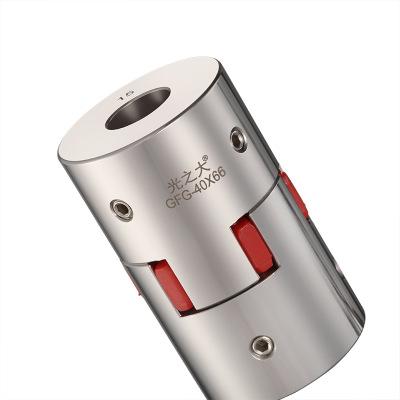 厂家直销光之大传动GND不锈钢梅花型联轴器CFG-20*25大扭矩连轴器