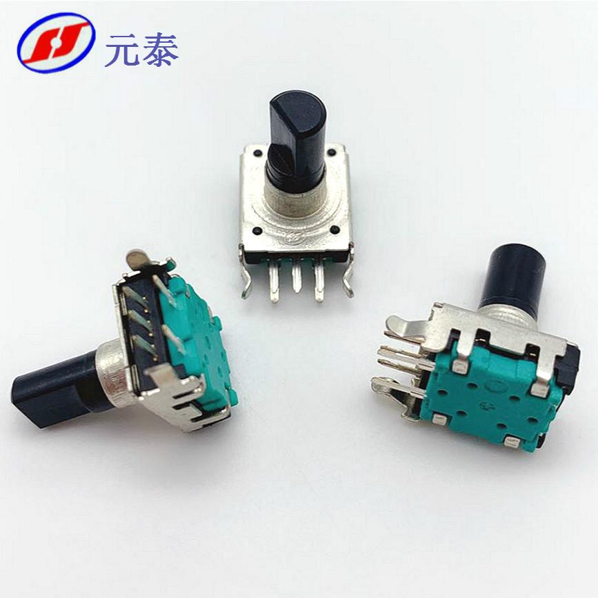 EC12旋转编码器卧式带开关塑胶柄数字编码开关数字电位器厂家直销