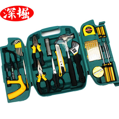 高档三折叠车载工具箱27件套礼品 五金组合工具8027工具套装