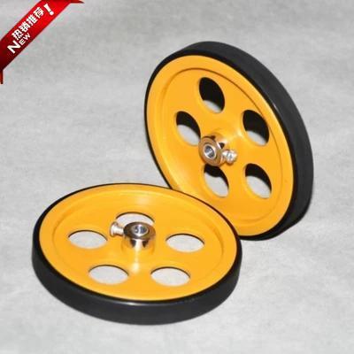 全新周长300MM包胶计米轮 编码器测长轮 塑料计米轮子 小车轮