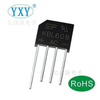 桥堆厂家直销 KBL610 整流桥堆 KBL608 DIP-4 足芯片 质量稳定