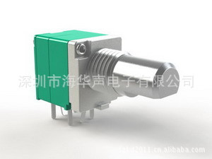 厂家供应09mm塑封旋转电位器,开关电位器,B50K线性电位器