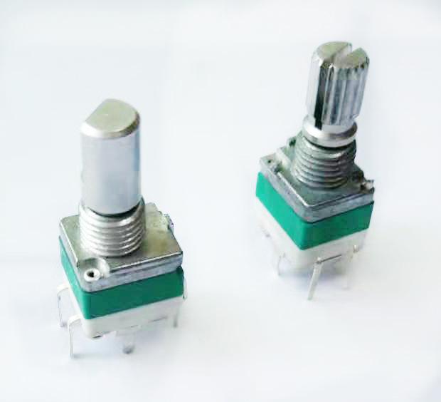 惠州电位器厂家 立式按压带开关自动复位可调电位器 轴长可定制