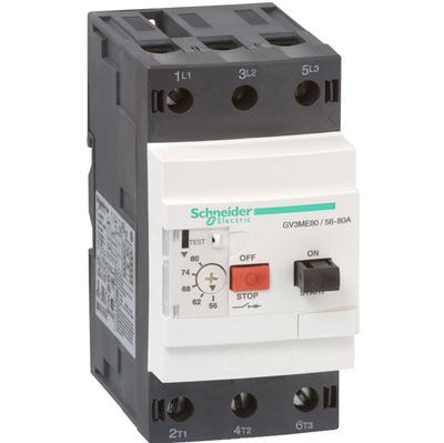 全新国产 施耐德电动机断路器 GV3ME80 56-80A 马达保护器 现货