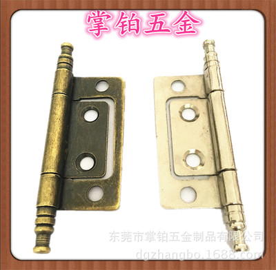 铁质2寸.3寸皇冠头子母合页 青古铜仿古衣柜门合页系列厂家订制